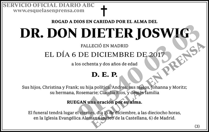 Dieter Joswig
